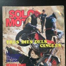 Coches y Motocicletas: SOLO MOTO Nº 111 - TRIAL CINGLES MALLORY PARK POSTER READ HONDA LARIO ELIAS DUCATI 350 SS BMW R80/7. Lote 211419081