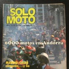 Coches y Motocicletas: SOLO MOTO Nº 110 - HARLEY MX 250 ME TT MADRID SIDE TRIAL FRANCIA COPA OSSA POSTER ELIAS BULTACO BMW. Lote 211421197