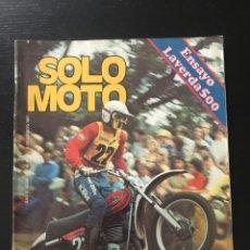 Coches y Motocicletas: SOLO MOTO Nº 101 - PIBERNAT MOTOCROSS INGLATERRA SIDE TRIAL POSTER OSSA DESSERT RIEJU LAVERDA 500. Lote 211422635