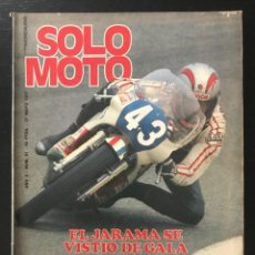 Coches y Motocicletas: SOLO MOTO Nº 91 - MOTOCROSS MARTORELL JARAMA POSTER MIKKOLA YAMAHA HISTORIA SANGLAS KAWASAKI KR 250. Lote 211422986