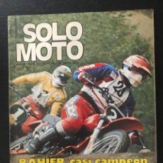 Coches y Motocicletas: SOLO MOTO Nº 43 - GP CARTAGENA MOTOCROSS POSTER EDWARDS MONTESA 360 TT ISERN LAMBRETTA PUMA BULTACO. Lote 211423740