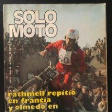 Coches y Motocicletas: SOLO MOTO Nº 30 - MOTOCROSS ALCOBENDAS ESPLUGAS POSTER VESTERINEN BULTACO OSSA DESSERT RICARDO TORMO. Lote 211424505