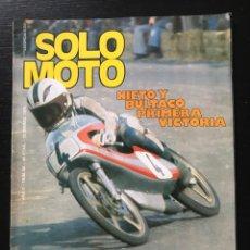 Coches y Motocicletas: SOLO MOTO Nº 28 - MOBYLETTE 4V ITALJET 50 COTA 348 PRETEMPORADA TT POSTER JOSE MARIA PIBERNAT. Lote 211448379