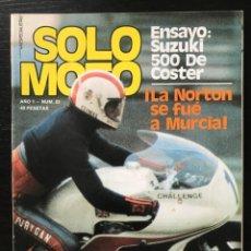 Coches y Motocicletas: SOLO MOTO Nº 22 - SUZUKI 500 DE COSTER PEDRO PI MARSINYAC LUIGI TAVERI PALOMO COSWORTH NORTON. Lote 211448699