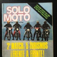 Coches y Motocicletas: SOLO MOTO Nº 18 - VUELTA A CATALUÑA 150 MILLAS MOLLET TRIAL MADRID FABRICA GUZZI MORBIDELLI. Lote 211448869