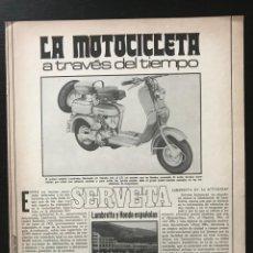 Coches y Motocicletas: LAMBRETTA SERVETA HONDA 125 150 200 JET - LA MOTOCICLETA A TRAVES DEL TIEMPO FASCICULO COLECCIONABLE. Lote 211527466