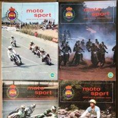 Coches y Motocicletas: REVISTAS MOTO SPORT DE LA FEDERACIÓN ESPAÑOLA DE MOTOCICLISMO 1982 Y 1983. Lote 211626859