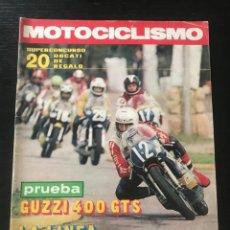 Coches y Motocicletas: MOTOCICLISMO Nº 472 - GUZZI 400 GTS TRICICLOTEAM MORBIDELLI CIUDAD LA LINEA MOTOCROSS BELGICA TRIAL. Lote 213720992