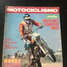 Coches y Motocicletas: MOTOCICLISMO Nº 469 - DUCATI VENTO 350 TOURIST TROPHY POSTER RIBO MONTESA GP MADRID MOTOCROSS IGOLLO. Lote 213721391