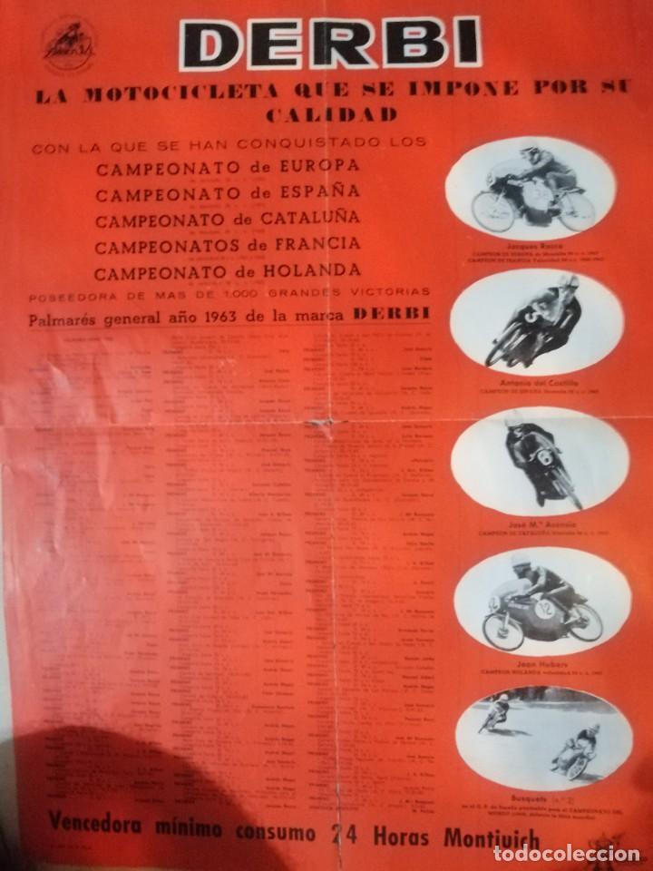 CARTEL ANTIGUO UO MOTO DERBI (Coches y Motocicletas - Revistas de Motos y Motocicletas)