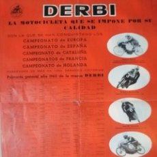 Coches y Motocicletas: CARTEL ANTIGUO UO MOTO DERBI. Lote 217631061