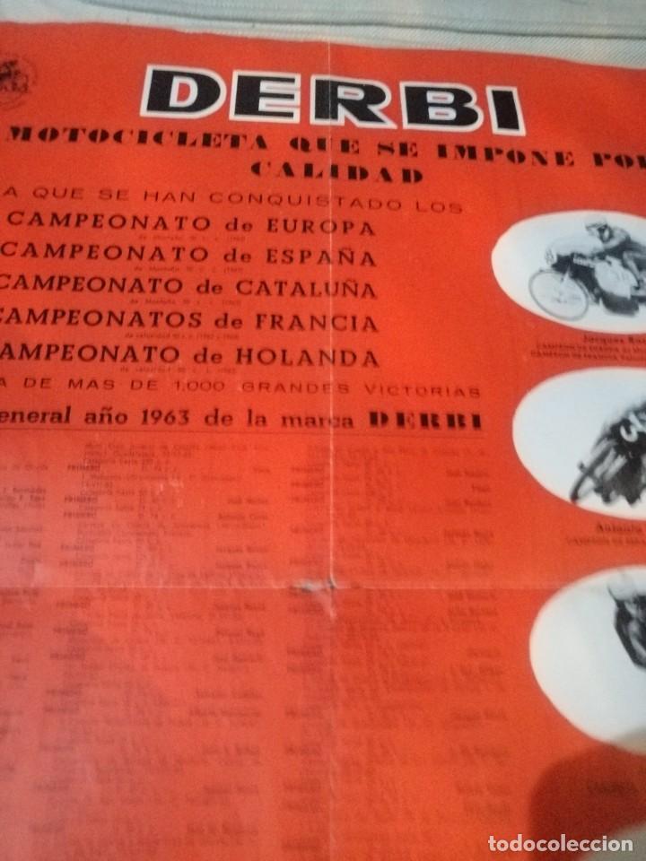 Coches y Motocicletas: Cartel antiguo uo moto Derbi - Foto 5 - 217631061