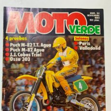 Coches y Motocicletas: MOTO VERDE N° 64 PUCH M-82 T.T. AGUA M-82 AGUA OSSA 303 J.J. COBAS TRIAL. Lote 217789057