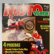 Coches y Motocicletas: MOTO VERDE N° 113 YAMAHA ENDURO CARLOS MAS MECATECNO DRAGONFLY MERLIN NOMADA 500 4T DT 80 LC. Lote 217789233