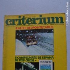 Coches y Motocicletas: FEDERACION SPORT CRITERIUM REVISTA 1976 II CAMPEONATO DE ESPAÑA DE POP CROSS. Lote 217983440