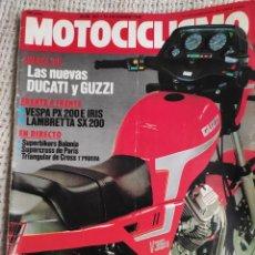 Carros e motociclos: MOTOCICLISMO Nº 932 - DIC 1985 - VESPA PX 200 E IRIS , LAMBRETTA SX 200 , GUZZI. Lote 218954456