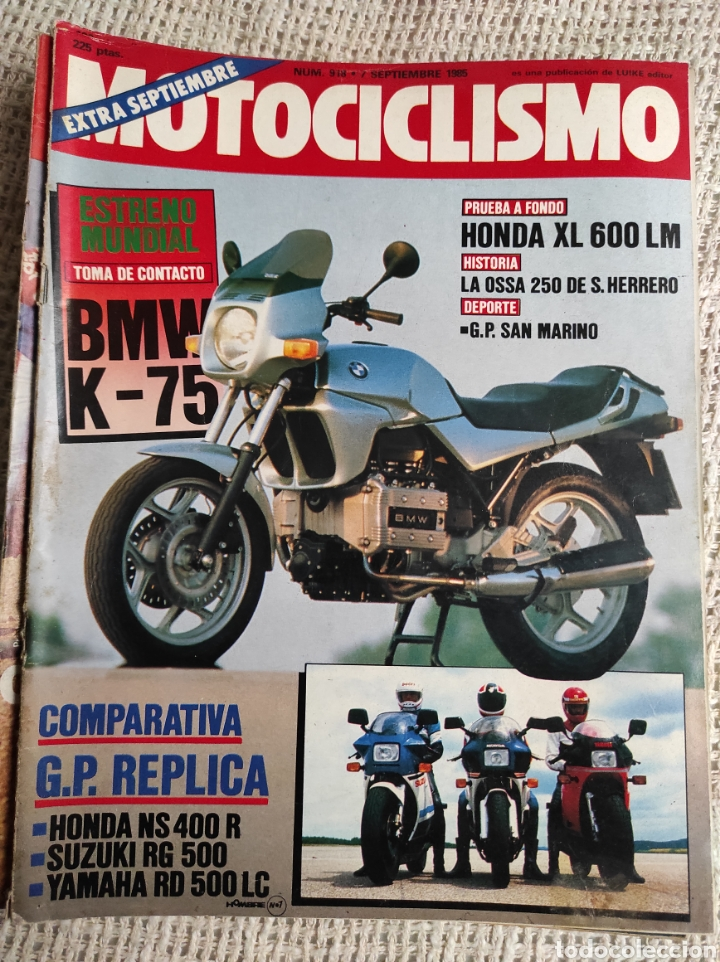 MOTOCICLISMO Nº 918 AÑO 1985. PRUEBA: HONDA XL 600 LM. COMP: HONDA NS 400 R, SUZUKI RG 500 (Coches y Motocicletas - Revistas de Motos y Motocicletas)