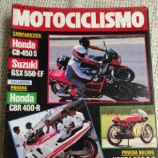 Coches y Motocicletas: MOTOCICLISMO Nº 967 - AGO 1986 - HONDA CB 450 S - CBR 400 R / SUZUKI GSX 550 EF / FANTIC TRIAL 125.1. Lote 218973973