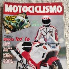 Coches y Motocicletas: MOTOCICLISMO Nº 1191 AÑO 1990. PRU: BIMOTA TESI. CAGIVA ELEFANT. YAMAHA YZR. HONDA NSR 250. Lote 218974381