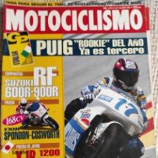 Coches y Motocicletas: MOTOCICLISMO Nº 1376 1994, COMPARATIVA SUZUKI RF 600 R 900 R, YAMAHA XJR 1200,PRUEBA APRILIA SCARA B. Lote 218974556