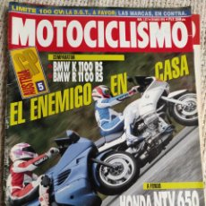 Coches y Motocicletas: MOTOCICLISMO Nº 1317 AÑO 1993. PRUEBA: HONDA NTV 650. COMP: BMW K 1100 RS Y BMW R 1100 RS. Lote 218974602