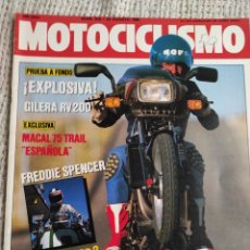 Coches y Motocicletas: MOTOCICLISMO Nº 916 24-8-85 GILERA RV 200 FANTIC 301, MKI TRIAL ARTESANAL, MACAL 75 TRAI. Lote 218974970