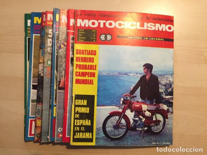 LOTE DE 8 REVISTAS MOTOCICLISMO ANGEL NIETO-SANTIAGO HERRERO-DERBI-BULTACO-VESPINO (Coches y Motocicletas - Revistas de Motos y Motocicletas)
