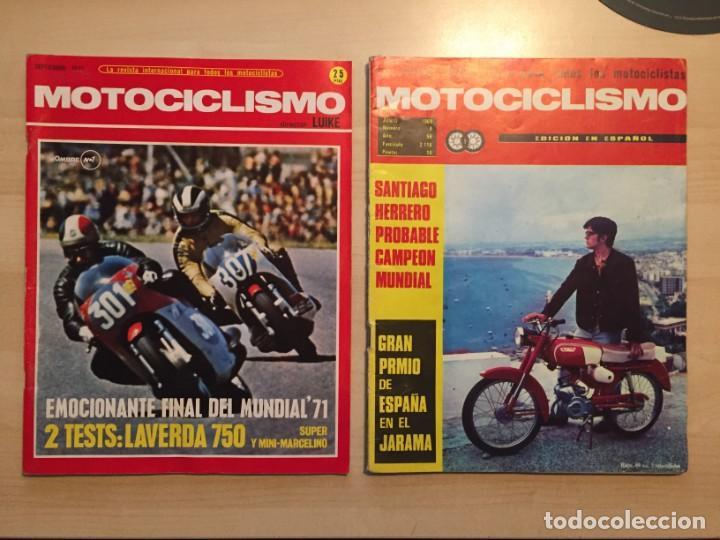 Coches y Motocicletas: LOTE DE 8 REVISTAS MOTOCICLISMO ANGEL NIETO-SANTIAGO HERRERO-DERBI-BULTACO-VESPINO - Foto 2 - 221715387