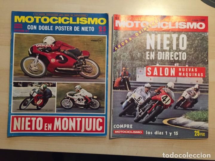 Coches y Motocicletas: LOTE DE 8 REVISTAS MOTOCICLISMO ANGEL NIETO-SANTIAGO HERRERO-DERBI-BULTACO-VESPINO - Foto 3 - 221715387