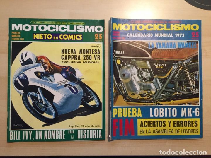 Coches y Motocicletas: LOTE DE 8 REVISTAS MOTOCICLISMO ANGEL NIETO-SANTIAGO HERRERO-DERBI-BULTACO-VESPINO - Foto 4 - 221715387