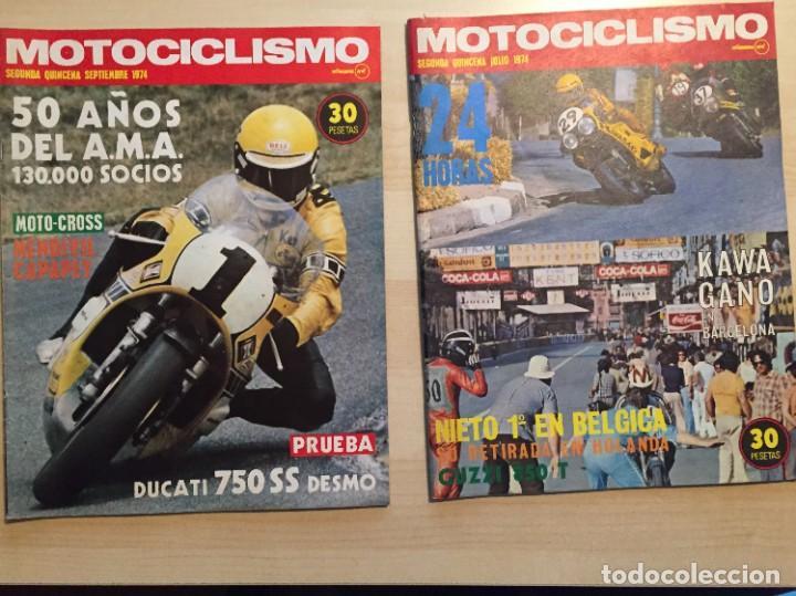 Coches y Motocicletas: LOTE DE 8 REVISTAS MOTOCICLISMO ANGEL NIETO-SANTIAGO HERRERO-DERBI-BULTACO-VESPINO - Foto 5 - 221715387