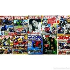 Coches y Motocicletas: LOTE 11 REVISTAS SOLO MOTO CATALOGO MOTOS GUIA MOTOGP ROSSI SETE MOTOCICLISMO GP. Lote 200103262