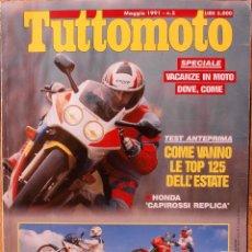 Coches y Motocicletas: TUTTOMOTO #149 (5-1991). ESTADO REGULAR, CON DESGASTE Y ARRUGAS EN CUBIERTAS. Lote 222817421