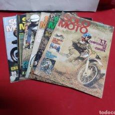 Coches y Motocicletas: LOTE DE 6 REVISTAS SOLO MOTO AÑO 1.1975. Lote 225027205