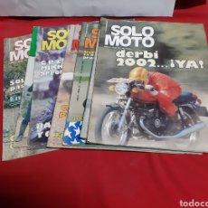 Coches y Motocicletas: LOTE DE 7 REVISTAS SOLO MOTO AÑO 1976. Lote 225032575