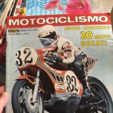 Coches y Motocicletas: REVISTA MOTOCICLISMO NUM 454-455. Lote 225177455