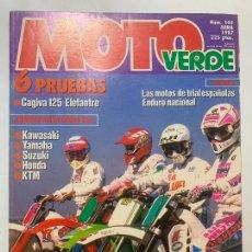 Voitures et Motocyclettes: REVISTA MOTO VERDE Nº 105 CAGIVA 125 ELEFANTRE HONDA CR 250 KAWASAKI KX 250. Lote 225520111
