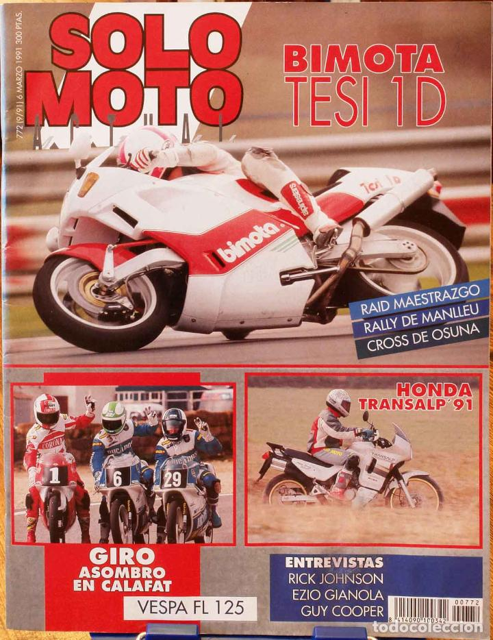 SOLO MOTO ACTUAL #772. BUEN ESTADO (Coches y Motocicletas - Revistas de Motos y Motocicletas)
