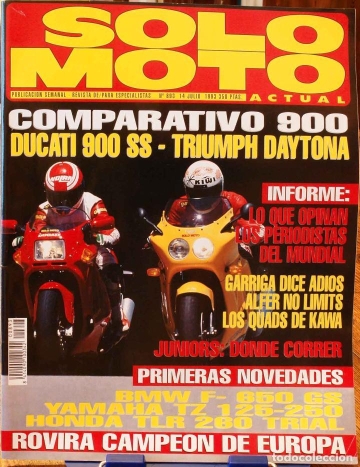 SOLO MOTO ACTUAL #893. BUEN ESTADO (Coches y Motocicletas - Revistas de Motos y Motocicletas)