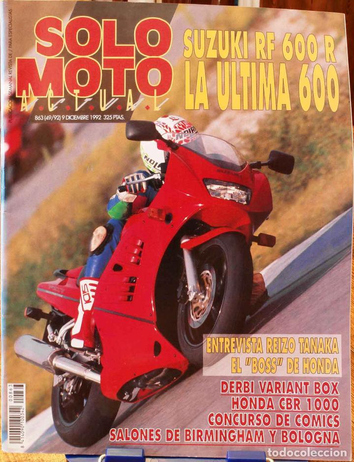 SOLO MOTO ACTUAL #863. MUY BUEN ESTADO (Coches y Motocicletas - Revistas de Motos y Motocicletas)