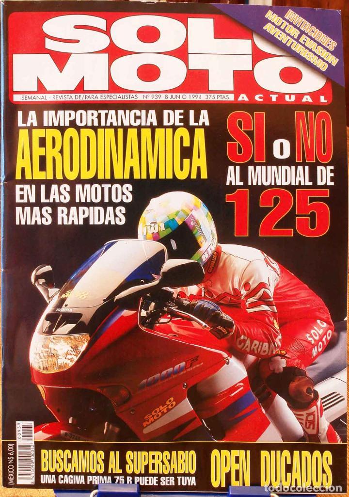 SOLO MOTO ACTUAL #939. MUY BUEN ESTADO (Coches y Motocicletas - Revistas de Motos y Motocicletas)