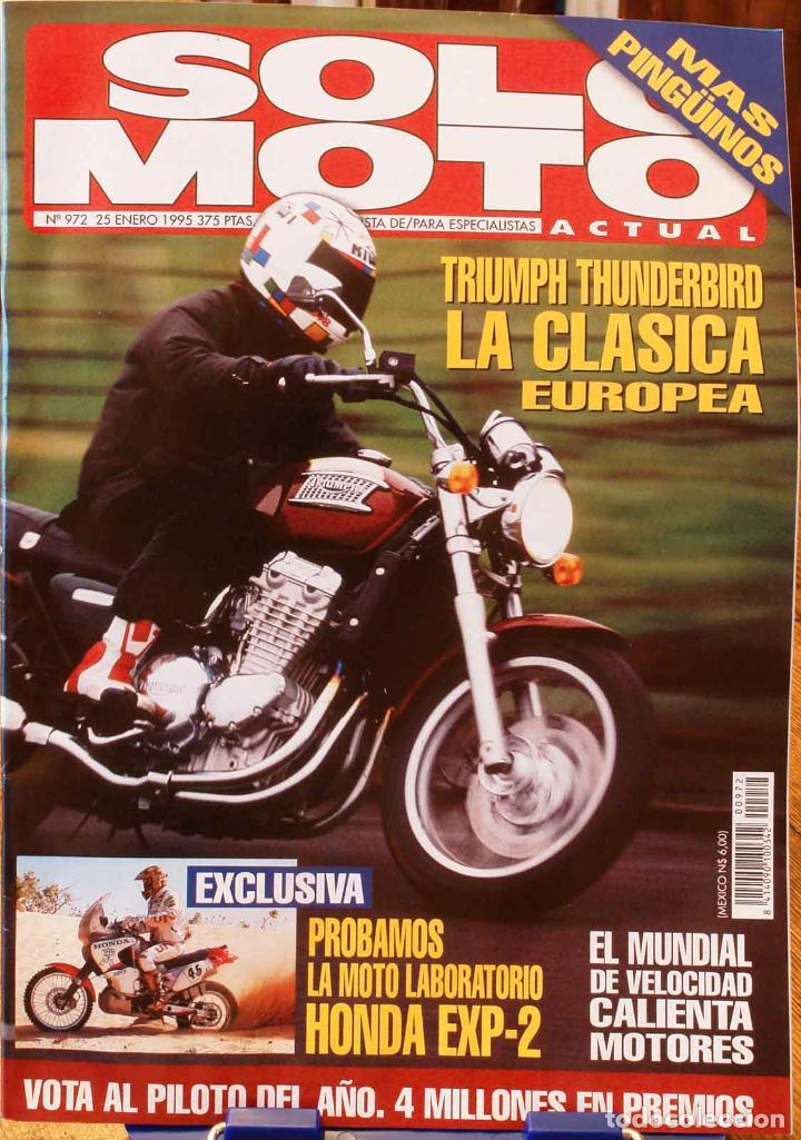 SOLO MOTO ACTUAL #972. MUY BUEN ESTADO (Coches y Motocicletas - Revistas de Motos y Motocicletas)