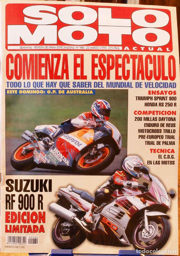 SOLO MOTO ACTUAL #980. MUY BUEN ESTADO (Coches y Motocicletas - Revistas de Motos y Motocicletas)