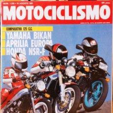 Coches y Motocicletas: MOTOCICLISMO #1225 15/8/91. BUEN ESTADO. Lote 227107745