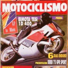 Coches y Motocicletas: MOTOCICLISMO #1229 12/9/91. BUEN ESTADO. Lote 227107910