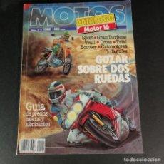 Coches y Motocicletas: MOTOS CATÁLOGO MOTOR 16 NUM 9 1988 SPORT TRIAL CROSS SCOOTER CICLOMOTORES GRAN TURISMO INFANTILES. Lote 230654580