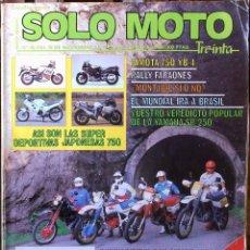 Coches y Motocicletas: SOLO MOTO 30 #46 15/11/86. BUEN ESTADO. Lote 232910728