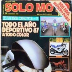 Coches y Motocicletas: SOLO MOTO 30 #58 12/87. MUY BUEN ESTADO. Lote 232910930