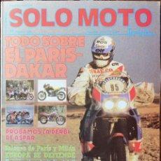Coches y Motocicletas: SOLO MOTO 30 #59 1/88. EXCELENTE ESTADO. Lote 232910960