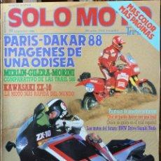 Coches y Motocicletas: SOLO MOTO 30 #60 2/88. EXCELENTE ESTADO. Lote 232910980